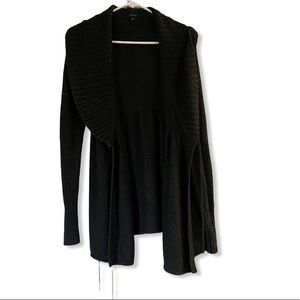 Talula Cardigan Black with a String on the Waist 1